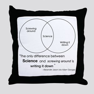 Mythbusters Science Quote Throw Pillow