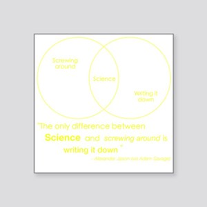 Mythbusters Science Quote (yellow) Sticker