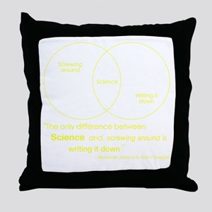 Mythbusters Science Quote (yellow) Throw Pillow