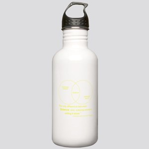 Mythbusters Science Quote (yellow) Water Bottle