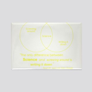 Mythbusters Science Quote (yellow) Rectangle Magne