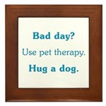 Bad Day Therapy Framed Tile