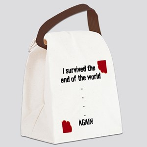 END OF THE WORLD Canvas Lunch Bag