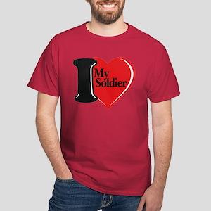 I Heart My Soldier Dark T-Shirt