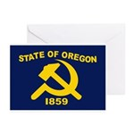 New Oregon Flag Greeting Cards (Pk of 10)