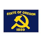 New Oregon Flag Mini Poster Print