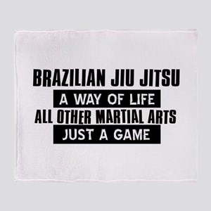 Brazilian Jiu Jitsu Lovers Designs Throw Blanket