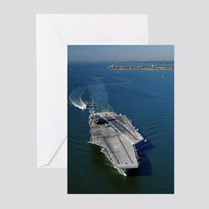 USS Eisenhower CVN 69 Greeting Cards (Pk of 10