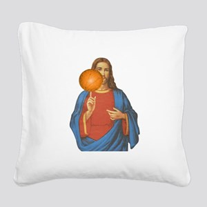 Jesus Christ Basketball Star Square Canvas Pillow
