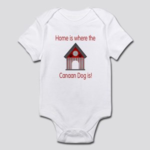 Home is where the Canaan Dog is Infant Bodysuit