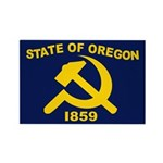 New Oregon Flag Rectangle Magnet