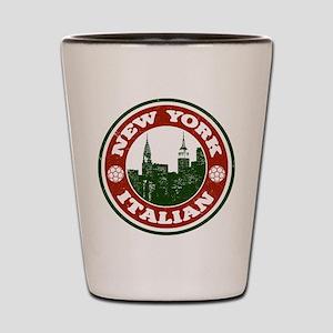 New York Italian American Shot Glass
