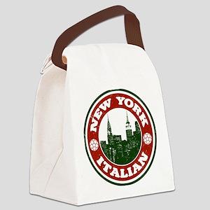 New York Italian American Canvas Lunch Bag