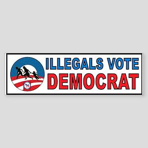 ILLEGAL VOTERS Bumper Sticker