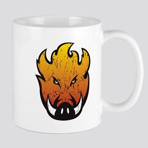 Flaming Hog Head Mug