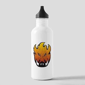 Flaming Hog Head Water Bottle