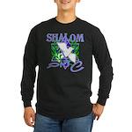 Jewish Peace (Shalom) Long Sleeve Dark T-Shirt