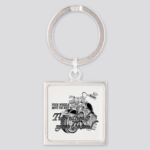 Two wheels move the soul Motorcycle Square Keychai