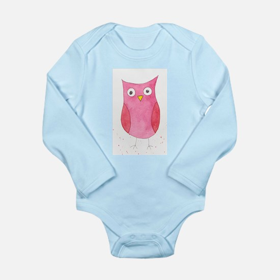 Pink Owl Body Suit