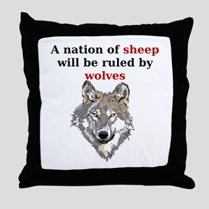 A nation of sheep will be ruled by wolves Throw Pi