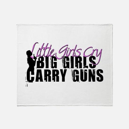 Big Girls Carry Guns Throw Blanket