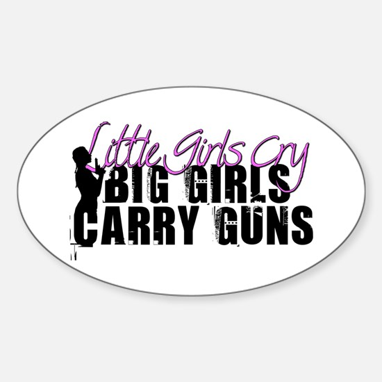 Big Girls Carry Guns Sticker (Oval)