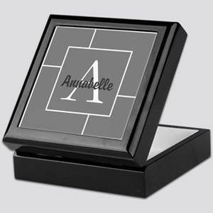 Personalized Name Monogram Keepsake Box