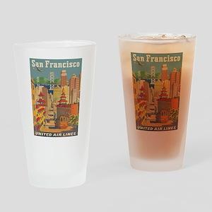 San Francisco, Travel, Vintage Poster Drinking Gla