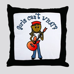 Dark Guitar Throw Pillow