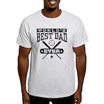 World's Best Dad Ever Baseball Light T-Shirt