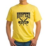 World's Best Dad Ever Baseball Yellow T-Shirt