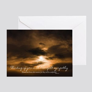 Sunset Sympathy Card, Heartfelt sympathy