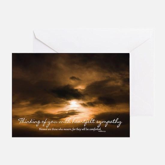Sunset Sympathy Card, Heartfelt sympathy