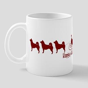 "Shiba Inus ""Sleigh"" Mug"