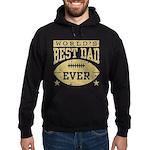 World's Best Dad Ever Football Hoodie (dark)
