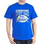 World's Best Dad Ever Football Dark T-Shirt