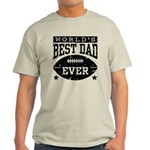 World's Best Dad Ever Football Light T-Shirt