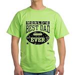 World's Best Dad Ever Football Green T-Shirt