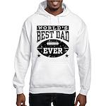 World's Best Dad Ever Football Hooded Sweatshirt
