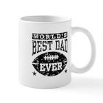 World's Best Dad Ever Football Mug