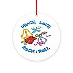 Peace, Love, R&R Ornament (Round)