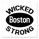 Boston Wicked Strong Square Car Magnet 3