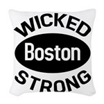 Boston Wicked Strong Woven Throw Pillow