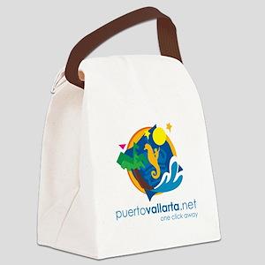 PuertoVallarta.net Logo Canvas Lunch Bag