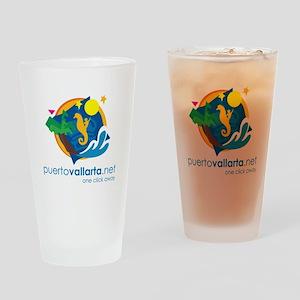PuertoVallarta.net Logo Drinking Glass