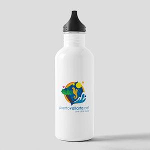 PuertoVallarta.net Logo Water Bottle