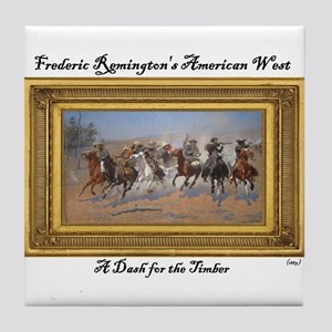 A Dash for the Timber - Frederic Remington Tile Co