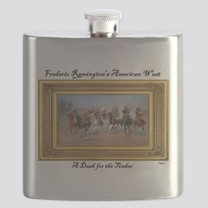 A Dash for the Timber - Frederic Remington Flask