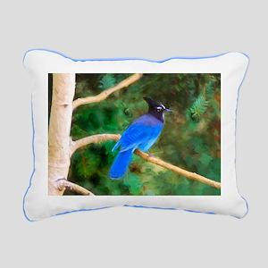 Steller's Jay Rectangular Canvas Pillow