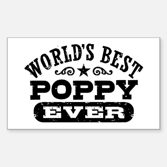 World's Best Poppy Ever Sticker (Rectangle)